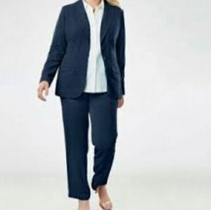 Jessica London Women's Single Breasted Pant Suit